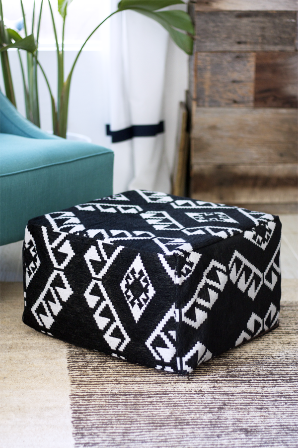 Do It Yourself - A Fancy Pouf For Your Living Room