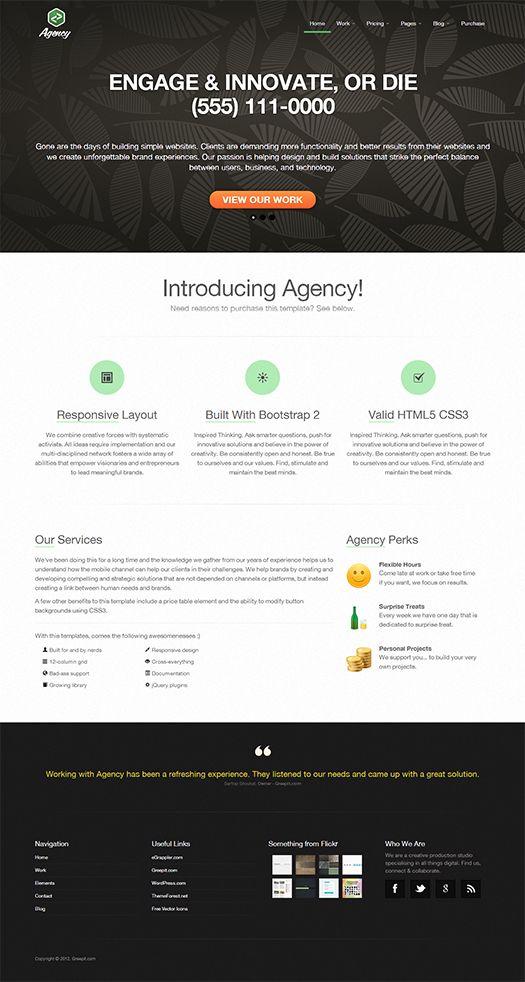 Responsive business portfolio template built using twitter bootstrap responsive business portfolio template built using twitter bootstrap agency accmission Choice Image