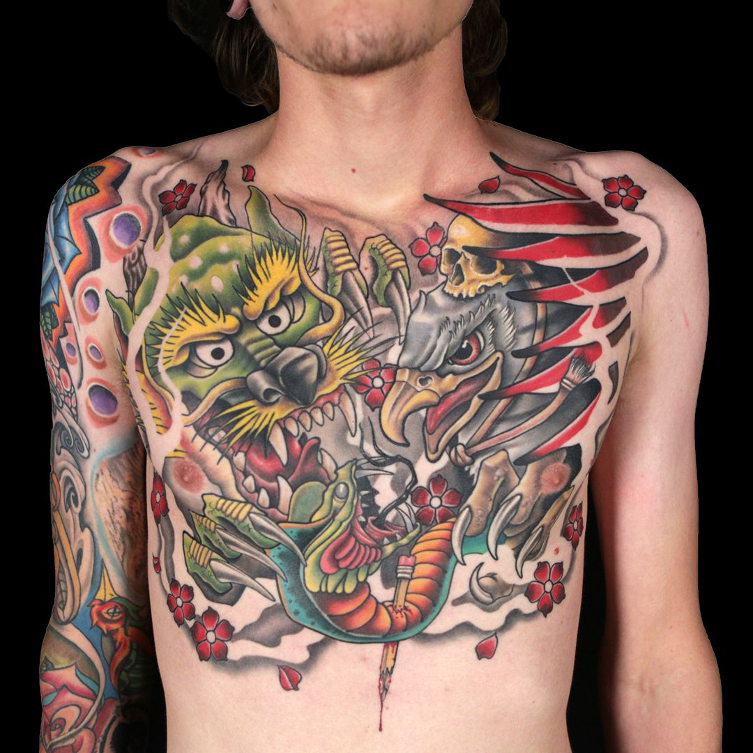 Roly TRex's 24 hour master canvas Ink master, Sleeve