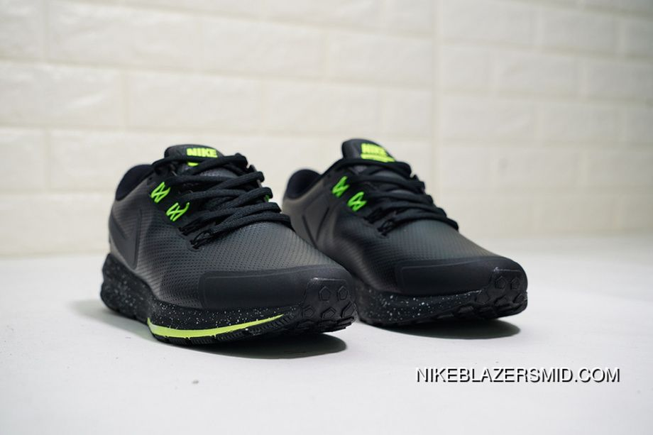 1681430bd226 Nike Air Zoom Structure 22 Leather AA1636-508 Mens Running Shoes Black  Green Ink Best