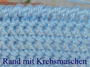 Häkellehrgang Krebsmasche Crochet Pinterest Häkeln