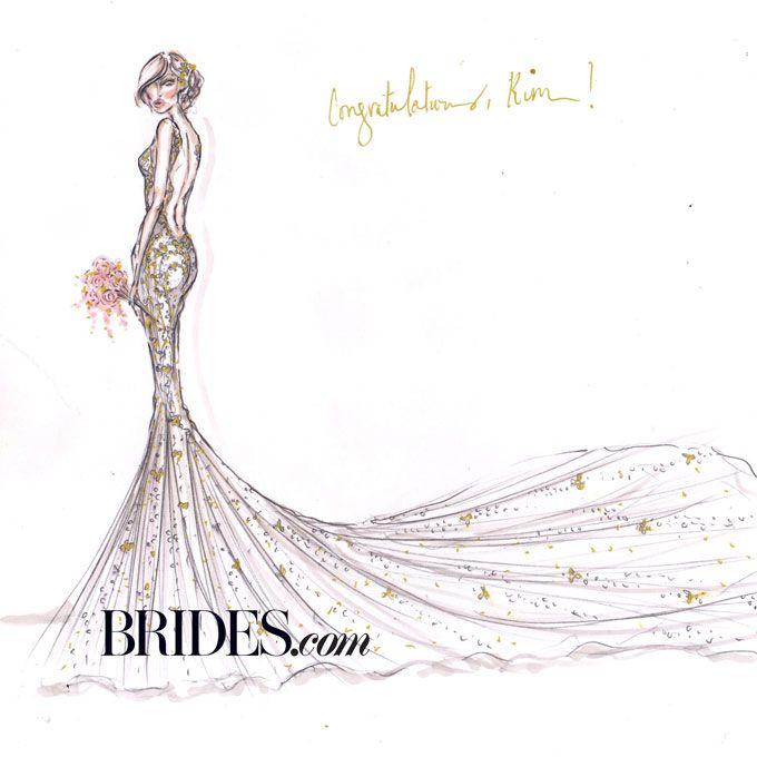 Kim Kardashian Wedding Dress Sketches | Alvina valenta wedding ...