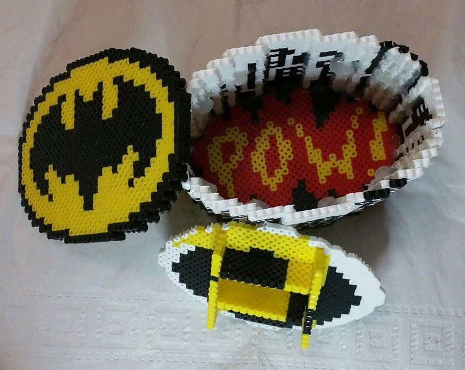 Batman jewelry box Batman jewelry Perler beads and Beads