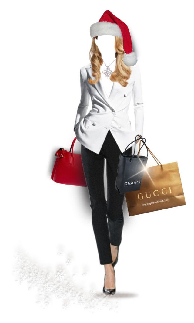 """""""* Shop Til You Drop *"""" by hrfost1210 ❤ liked on Polyvore featuring Prada, Trilogy, Chanel, La Preciosa, doll, shopping, polyvoreeditorial and santahat"""