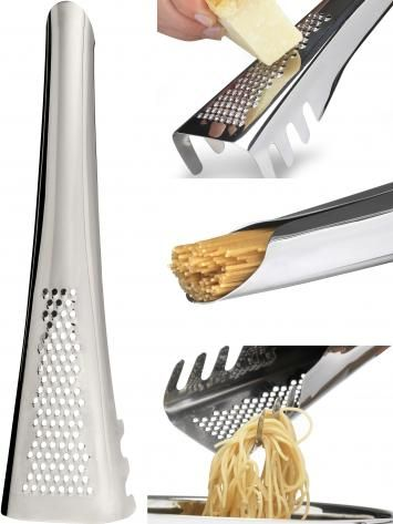 Pasta Server - From Sweden design team, Transformer // useful in three ways: as a parmesan cheese grater, pasta measure and server.