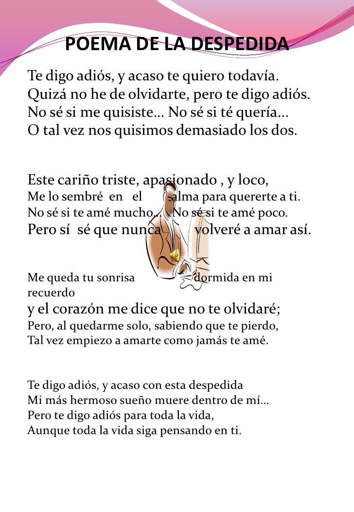 10 HERMOSOS POEMAS DE DESPEDIDAS PARA MAESTROS IMÁGENES DE AMORALIN®: Poemas de despedida