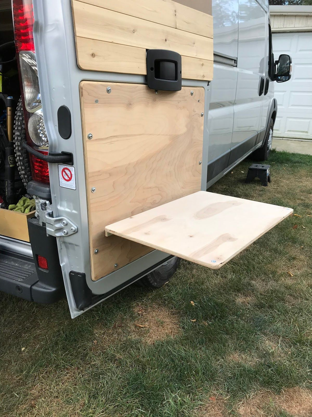How To Build Fold Down Tables Into The Back Doors Of Van