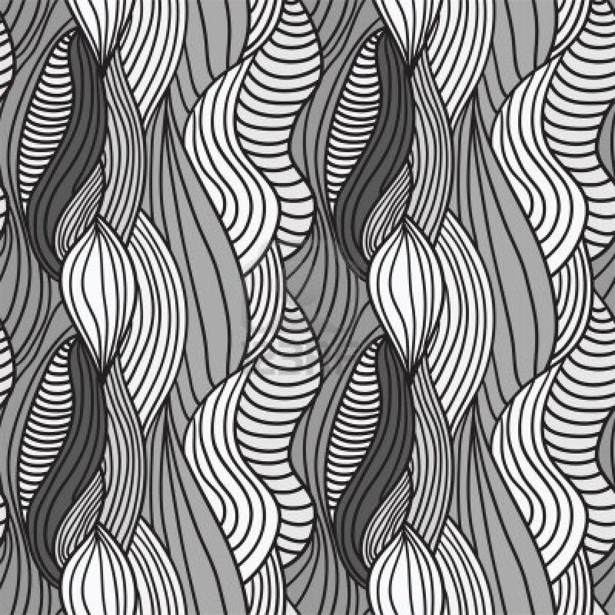 Seamless Abstract Hand Drawn Pattern Hair Background Hand Drawn Pattern How To Draw Hands Abstract