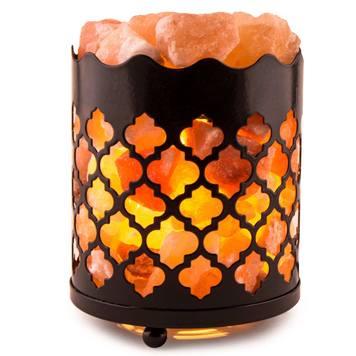 Lumiere Salt Lamp Classy Crystal Decor Natural Himalayan Salt Lamp With Salt Chunks In Decorating Design
