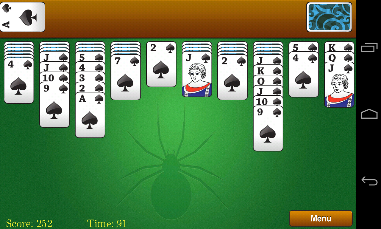 Spider Solitaire • Play Free Spider Solitaire Online