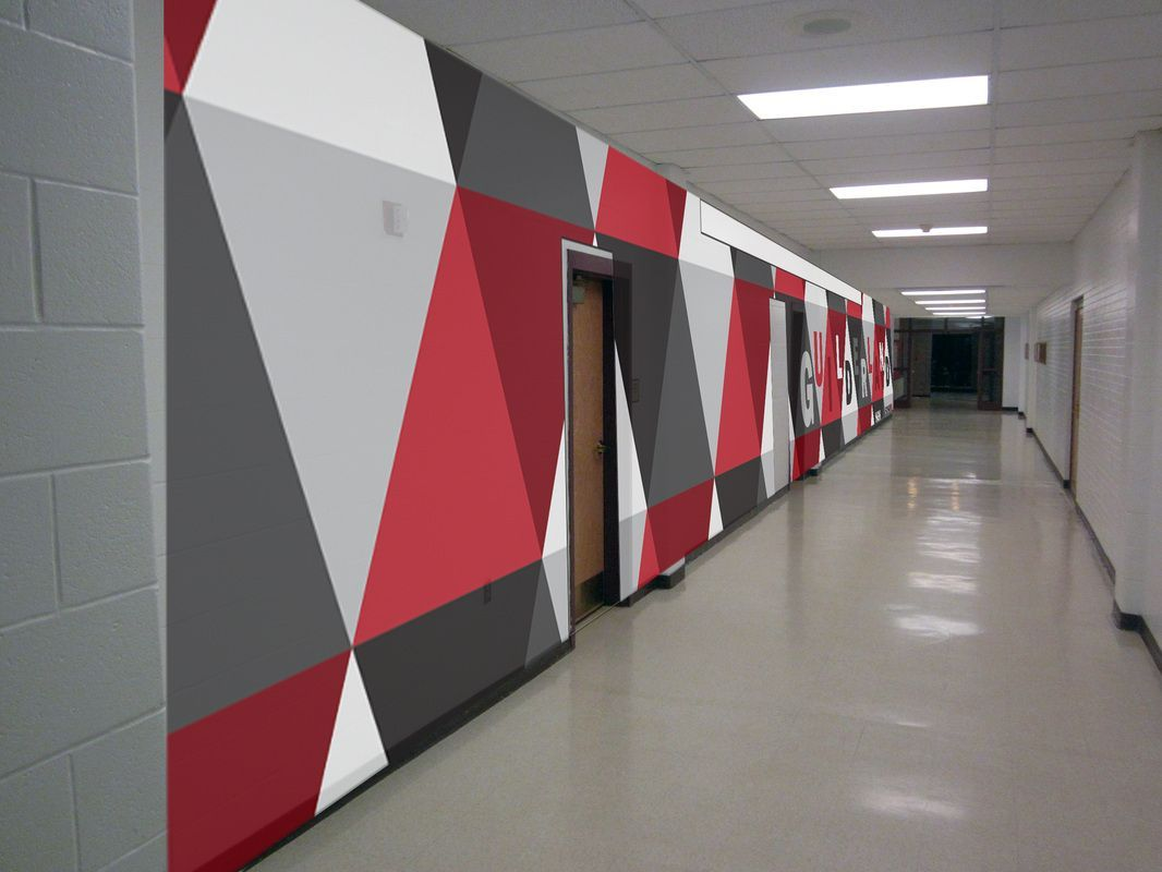The Best Graphic Design Schools 14 Proposal By Graphic Design For Hallway Outside Principal S Of Interior Design School School Interior Office Interior Design