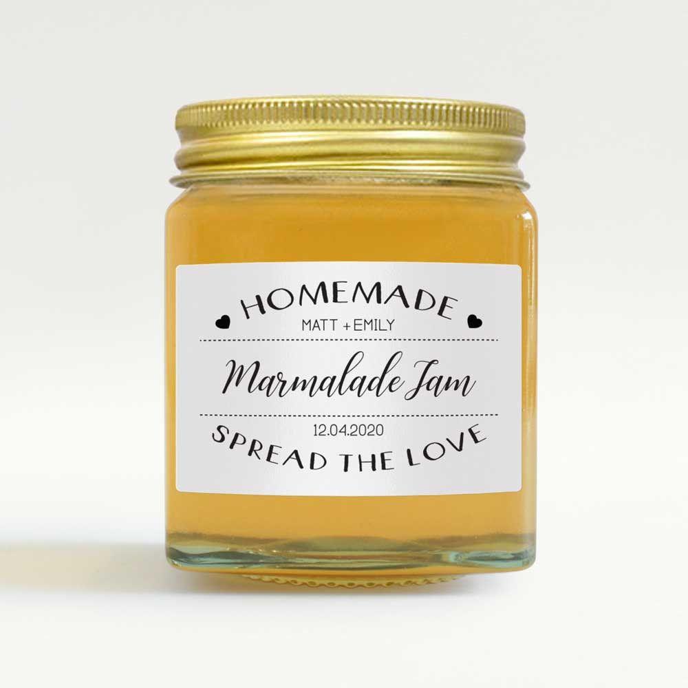 Personalised stickers jam jar label homemade jam handmade jam