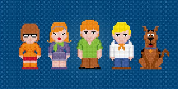 Les personnages de scooby doo hama beads pinterest scooby doo punto de cruz y puntos - Personnage scooby doo ...
