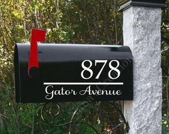 Nice Emphasis On Street And Nice Font Mailbox Numbers Mailbox Decals Custom Mailboxes