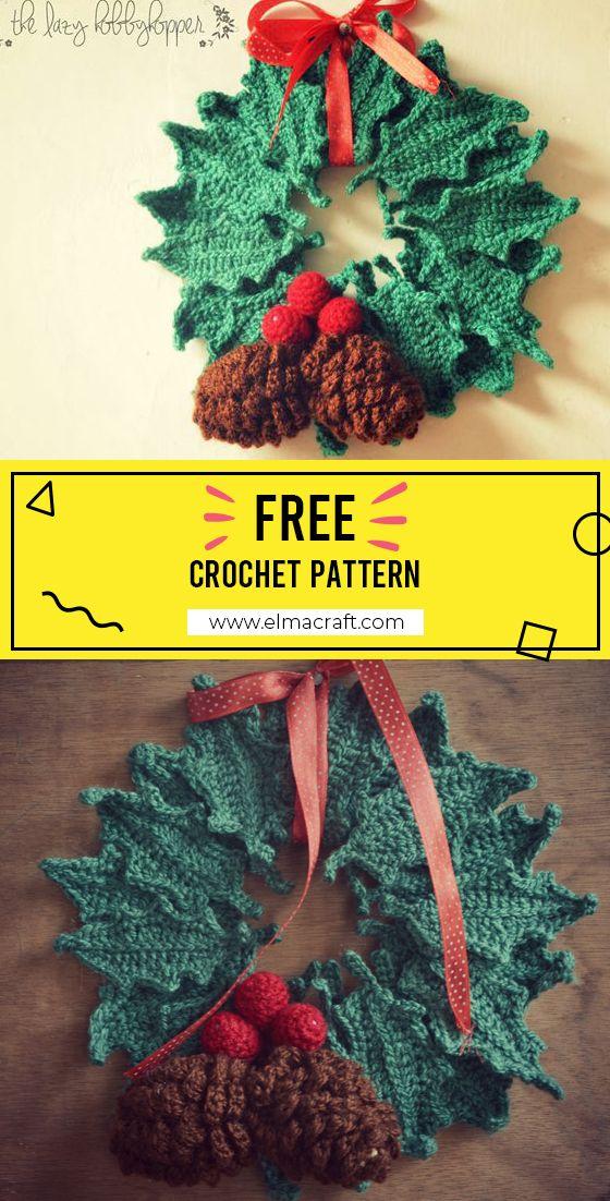 Photo of Christmas wreath #ChristmasWreath #crorchet #crocehtpattern