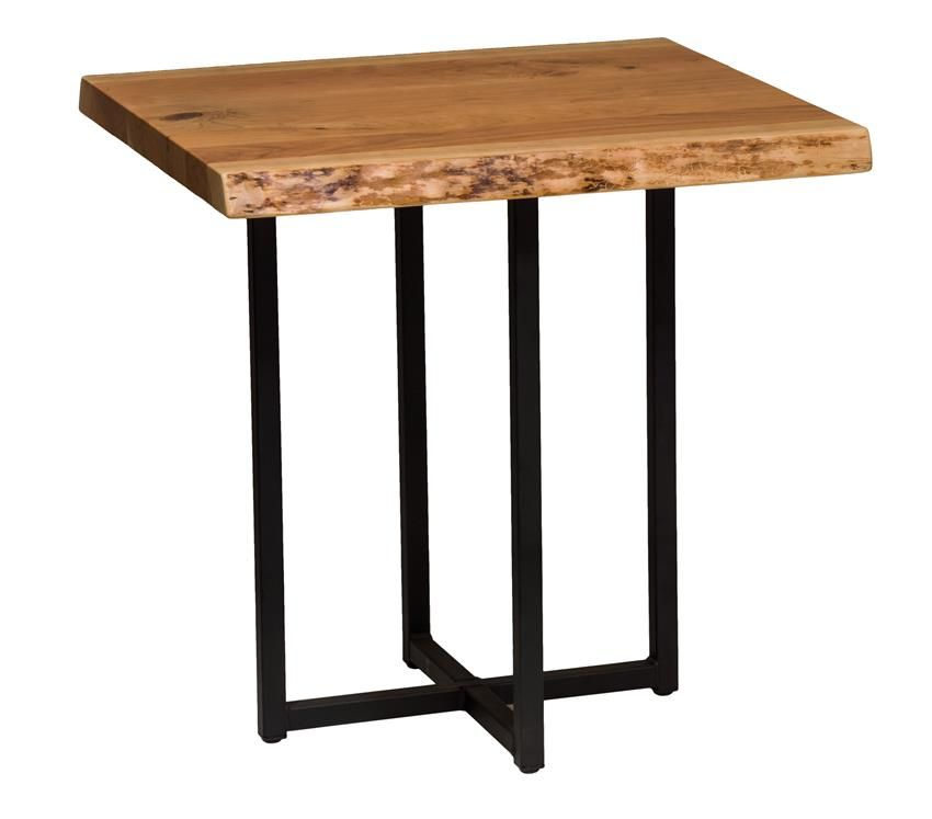 Etonnant Live Edge End Table With Steel T Base