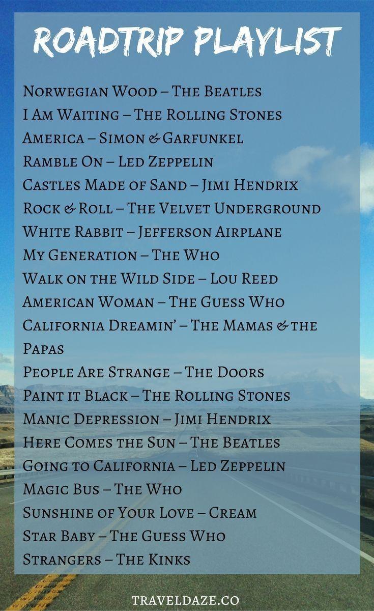 Road Trip Playlist Die Besten Songs Fur Einen Grossartigen Amerikanischen Road Trip Beste Songs Lieder Liste Playlist Ideen