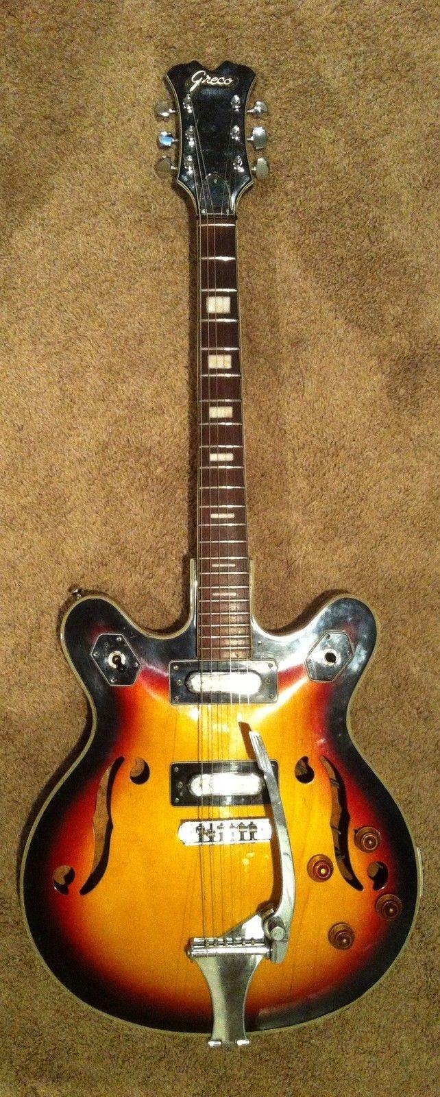 1968 Greco 980 Semi Hollow Body Guitar Vintage Lawsuit Ebay Guitar Vintage Guitars Vintage