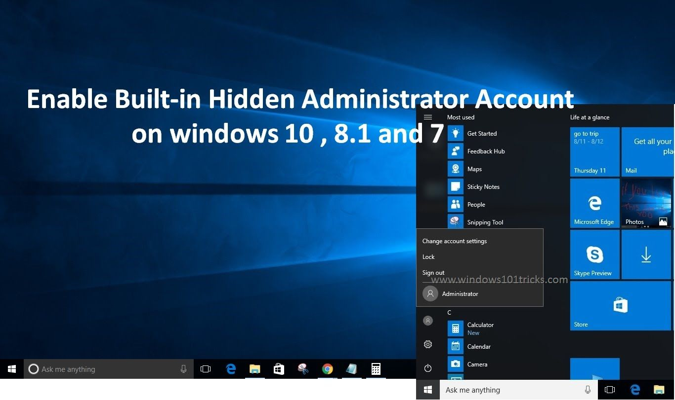 how to turn off administrator account windows 8.1