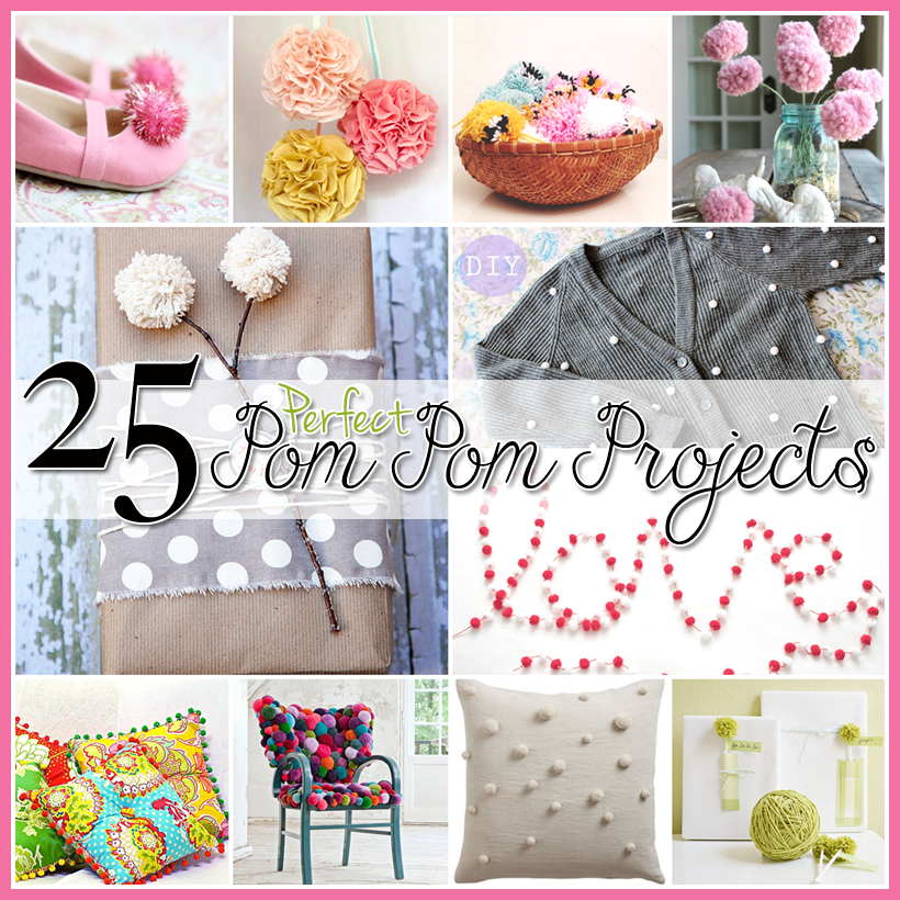 25 Pom Pom DIY Projects Home Decor, Clothes and Great FUN ...