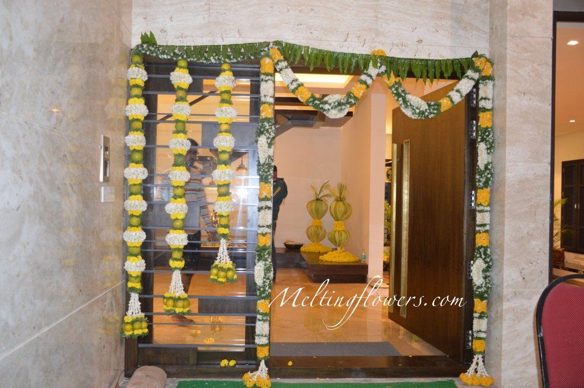 Grahpravesham Decorations Bangalore Flower Decorations Wedding Door Decorations Home Wedding Decorations