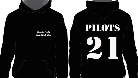 21 pilotos negro con capucha por JoeyCalifornia31 en Etsy