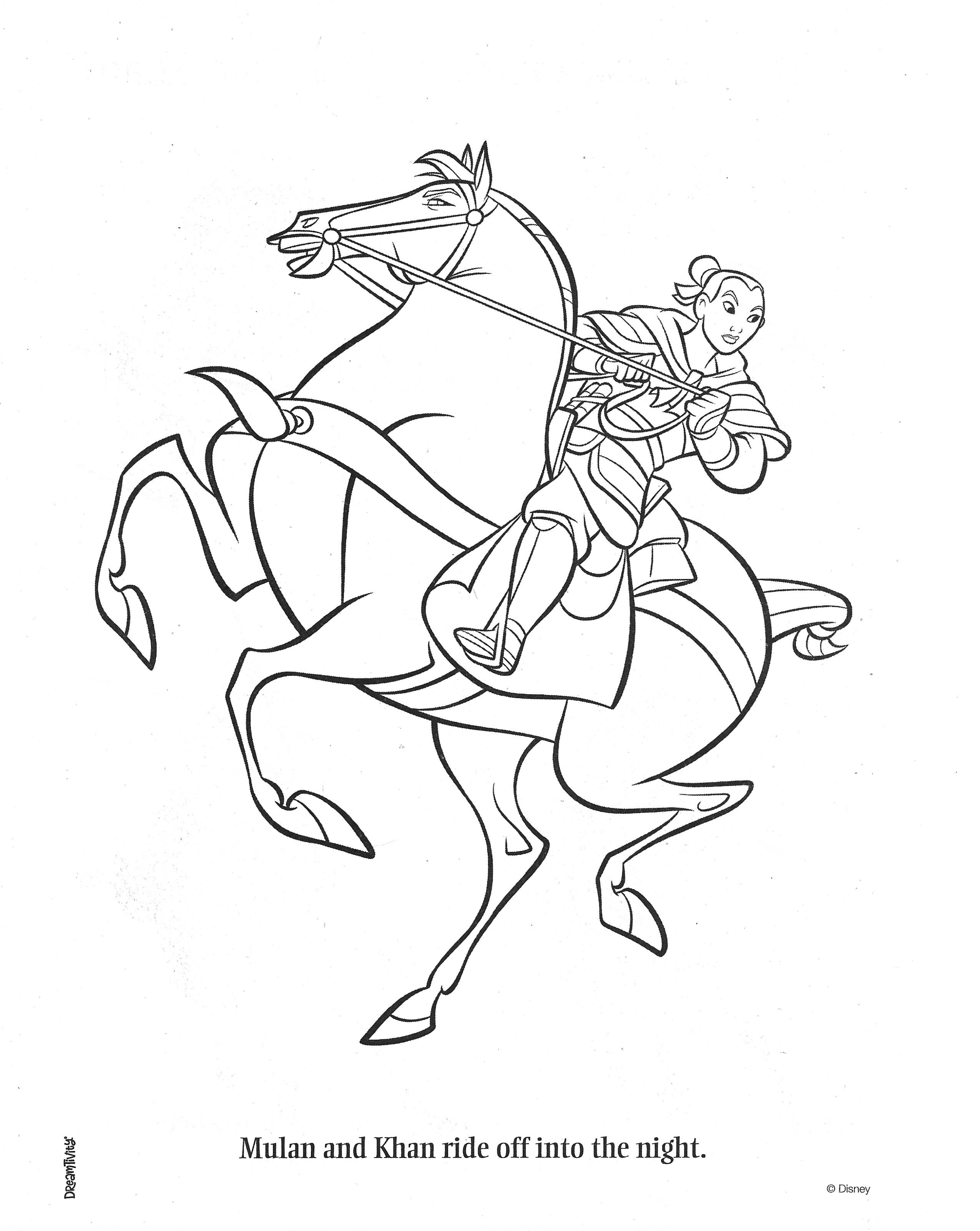 Mulan Coloring Page Coloring Pages Mulan Color [ 3204 x 2550 Pixel ]