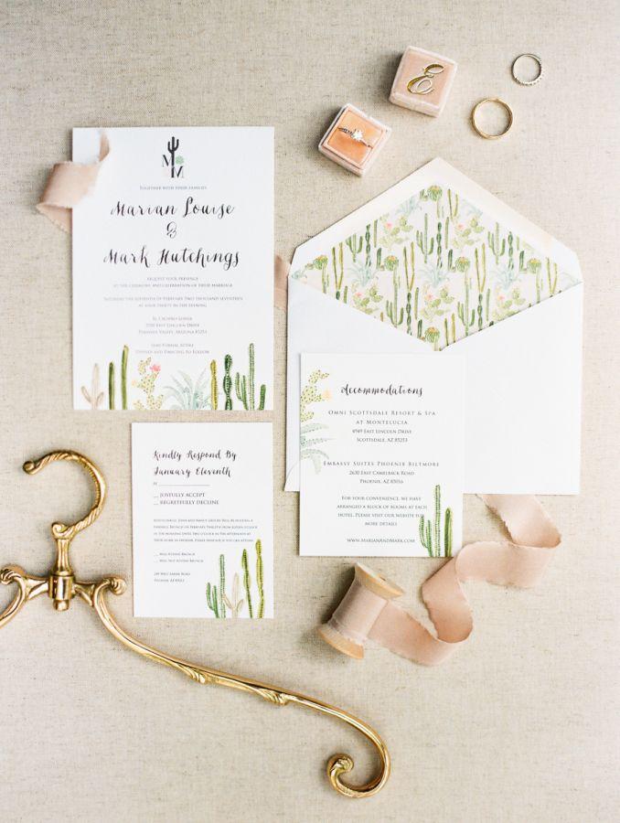 A Wildly Romantic Wedding In The Arizona Desert Southwest Wedding Invitations Wedding Invitations Diy Fun Wedding Invitations