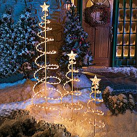spiral christmas tree 3 piece set at big lots biglots - Big Lots Outdoor Christmas Decorations