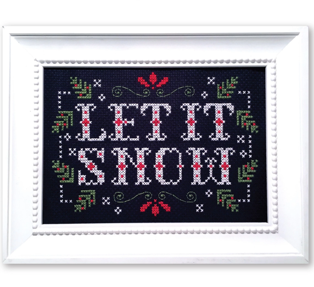 Photo of Let it Snow – Winter Cross Stitch Pattern – Instant Download
