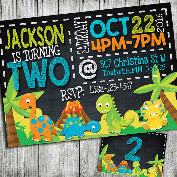 Dinosaur birthday invitation dinosaur invitation dinosaur party