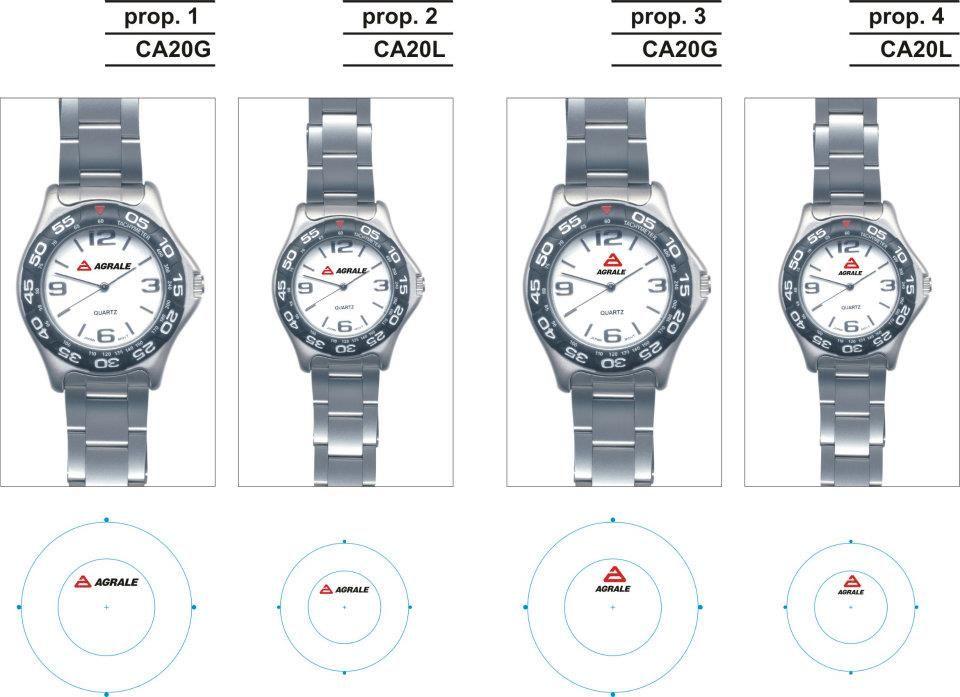Relojes metálica con maya de acero. Con impresión en tampografía a 2 colores
