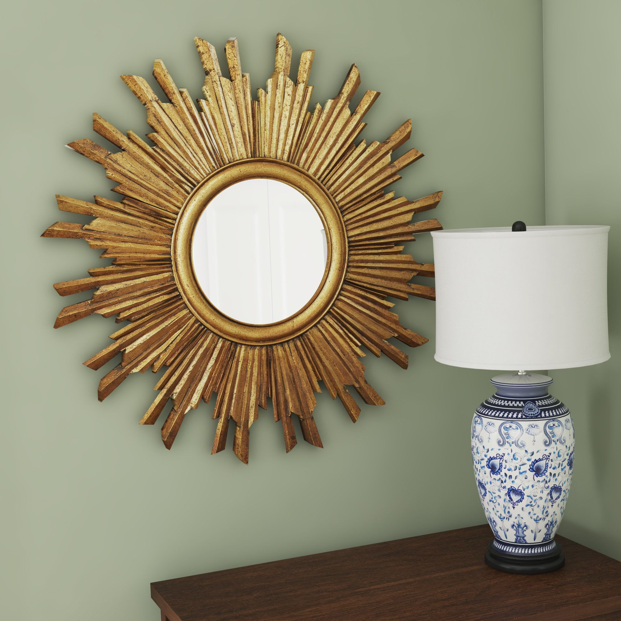 Fitzgibbons Sunburst Round Mirror