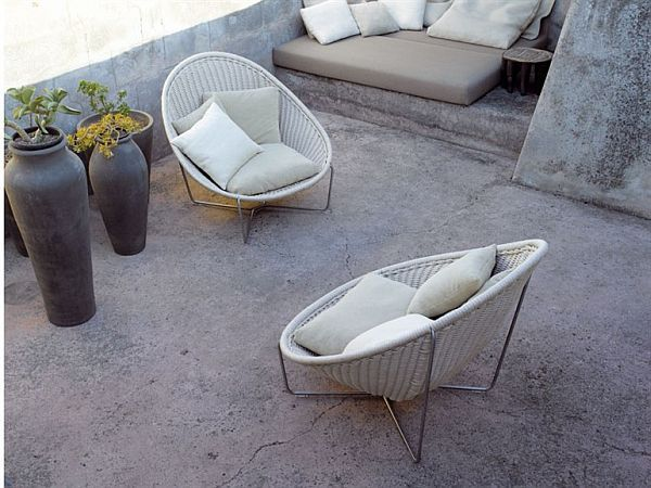 cozy outdoor furniture from paola lenti | outdoor furniture