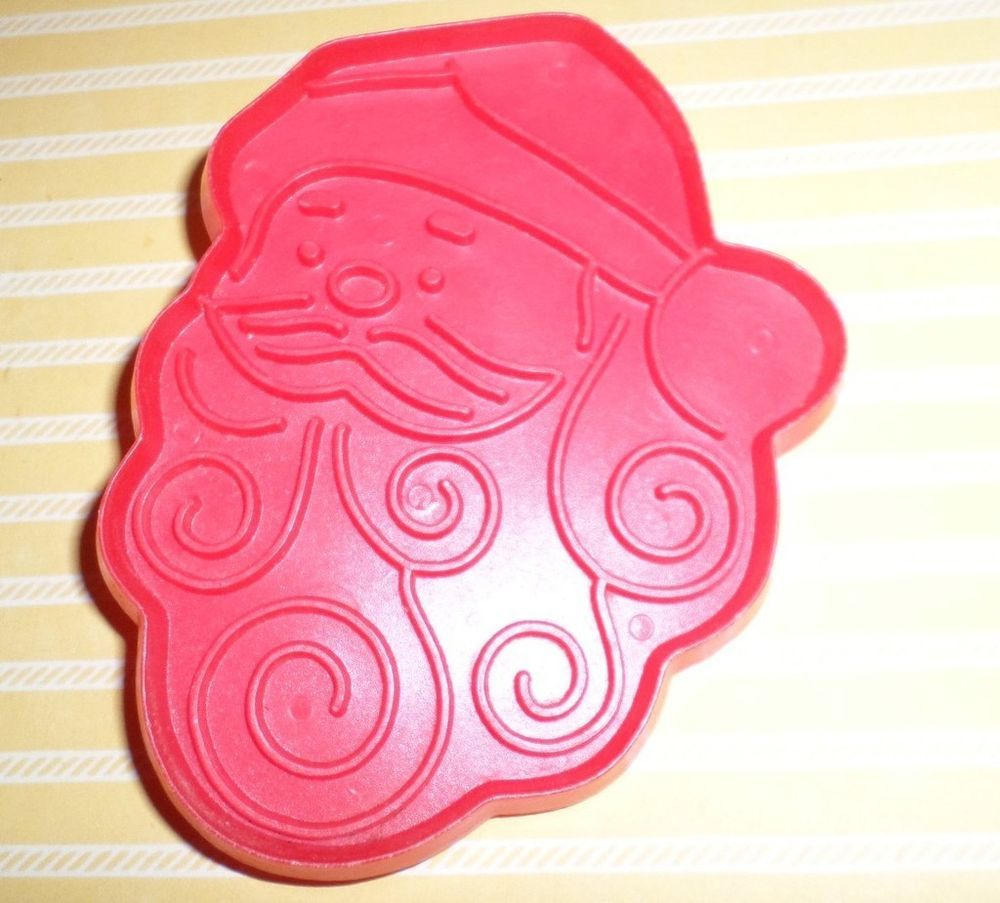 Hallmark Cookie Cutter Vintage Large Curly Beard Full Face Santa