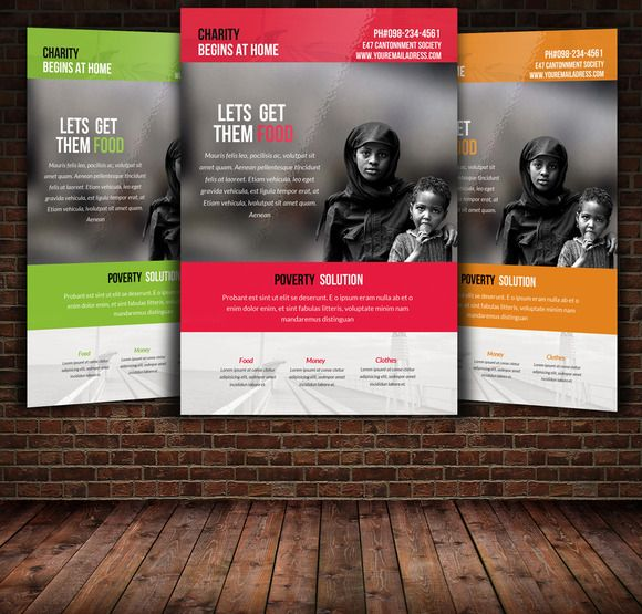 charity flyer template by leza on creative market stuff to buy