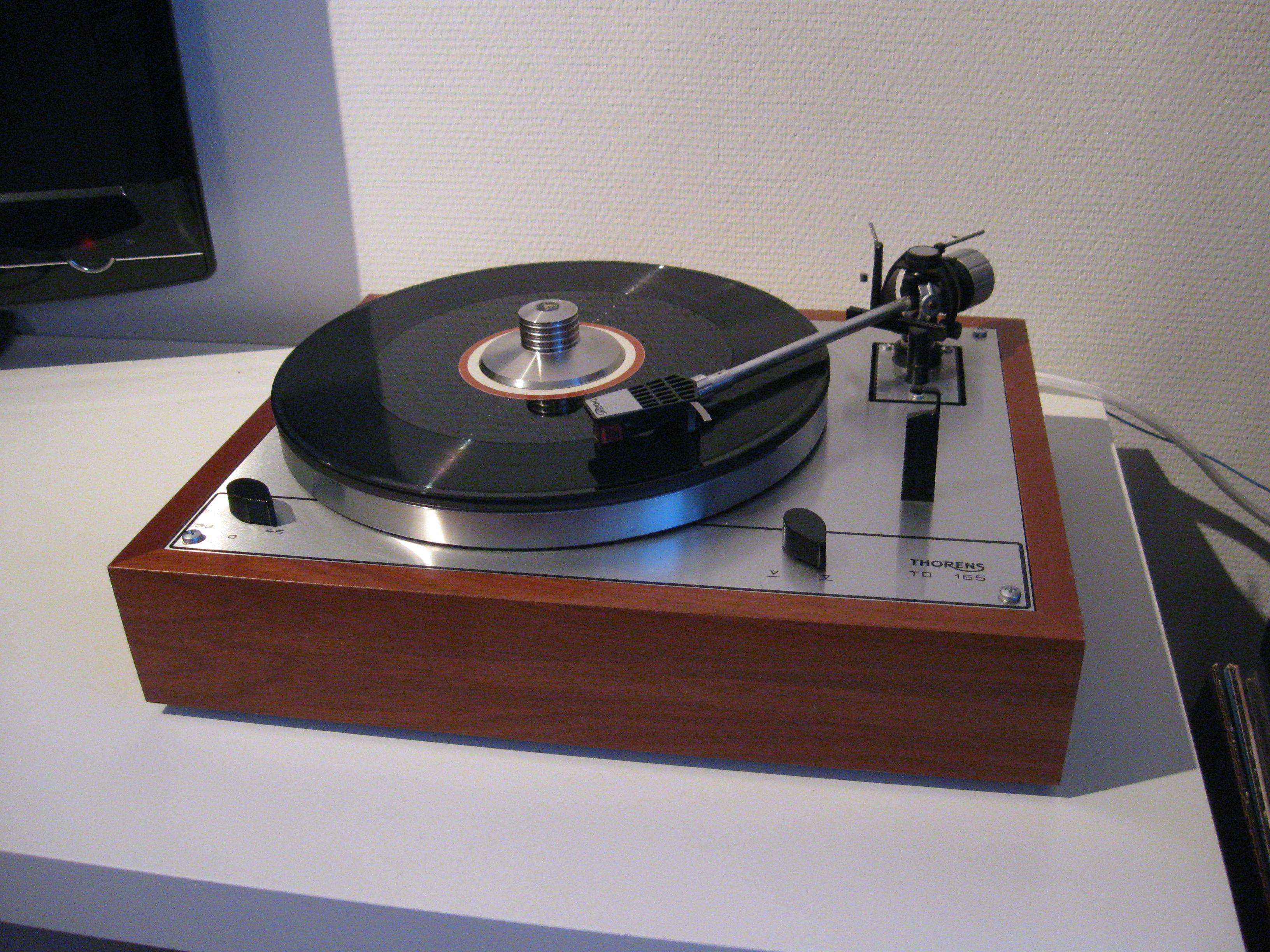 modified thorens td165 turntable hi fi platine vinyle thorens pinterest. Black Bedroom Furniture Sets. Home Design Ideas