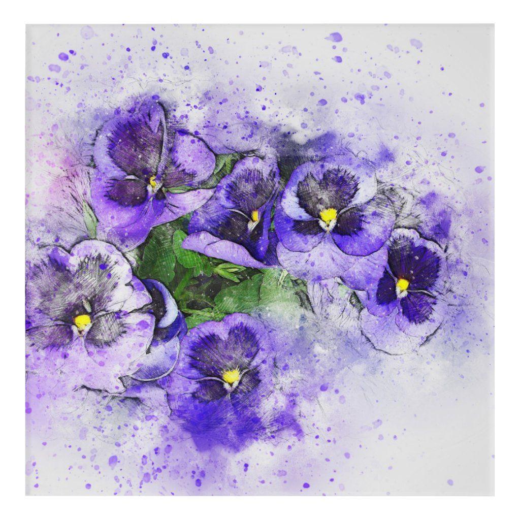 Cute Purple Bouquet Acrylic Print Zazzle Com Abstract Art Poster Posters Art Prints Purple Area Rugs