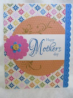 Handmade Mother's Day card using Stampin' Up! Ice Cream Parlor paper collection.
