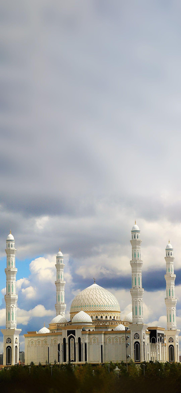 Mosque Under Clouds Smartphone Wallpaper Islamic Wallpaper Mosque Smartphone Wallpaper