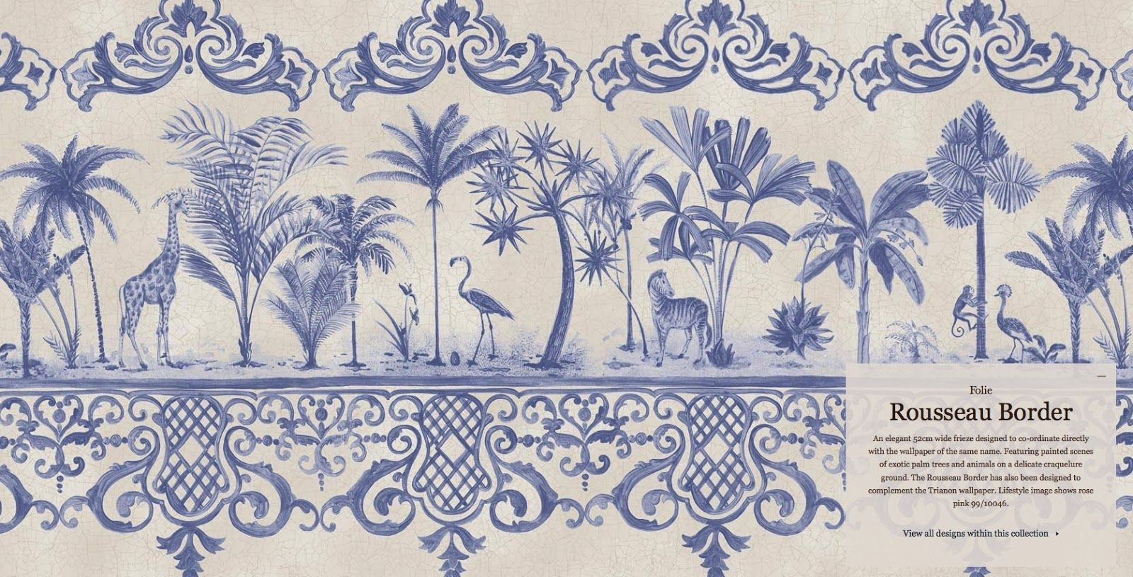 Kitchen wallpaper border  Belclaire House Blue and White Wallpaper Pretties from Cole u Son
