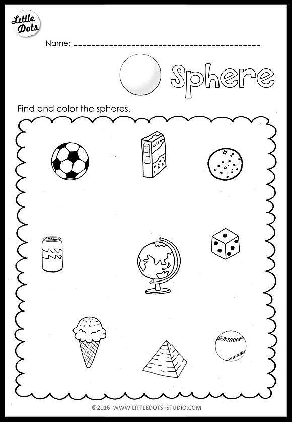 Kindergarten Math 3d Shapes Worksheets And Activities Shapes Worksheet Kindergarten Shapes Worksheets 3d Shapes Worksheets