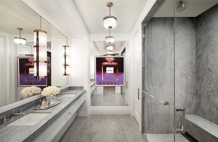 Ванная в пентхаусе в Trump World Tower на Манхэттене за 13 000 000$