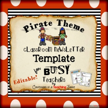 Pirate Theme Newsletter Template - WORD Newsletter templates - newsletter template for word