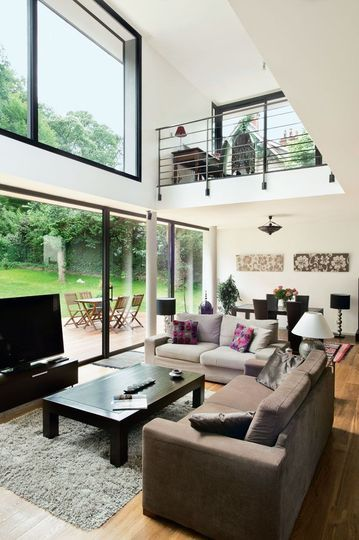 Une Maison Moderne Qui Invite Le Jardin à Lintérieur Casa - Plan interieur maison moderne
