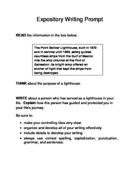 Expository essay prompts 8th grade