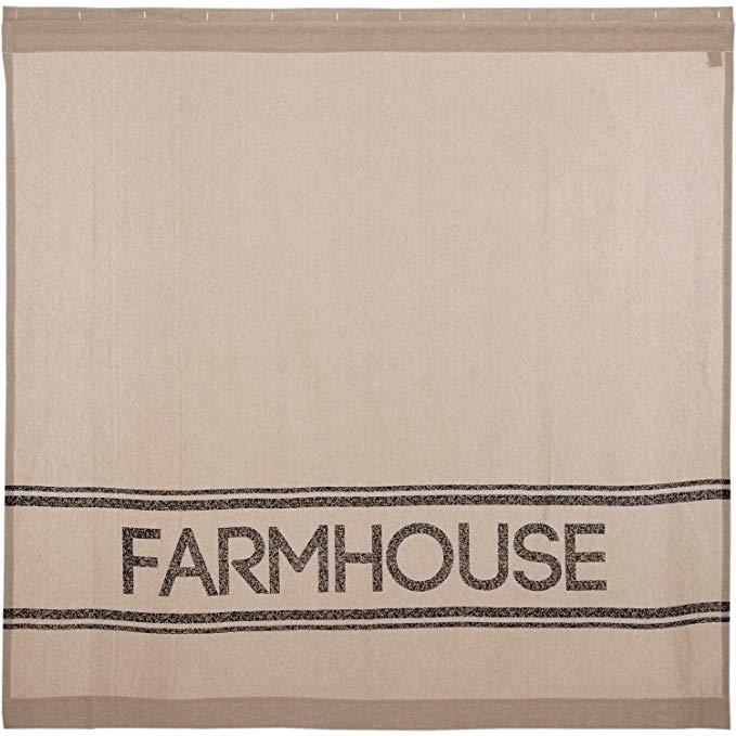 Amazon Com Vhc Brands Farmhouse Bath Sawyer Mill Rod Pocket