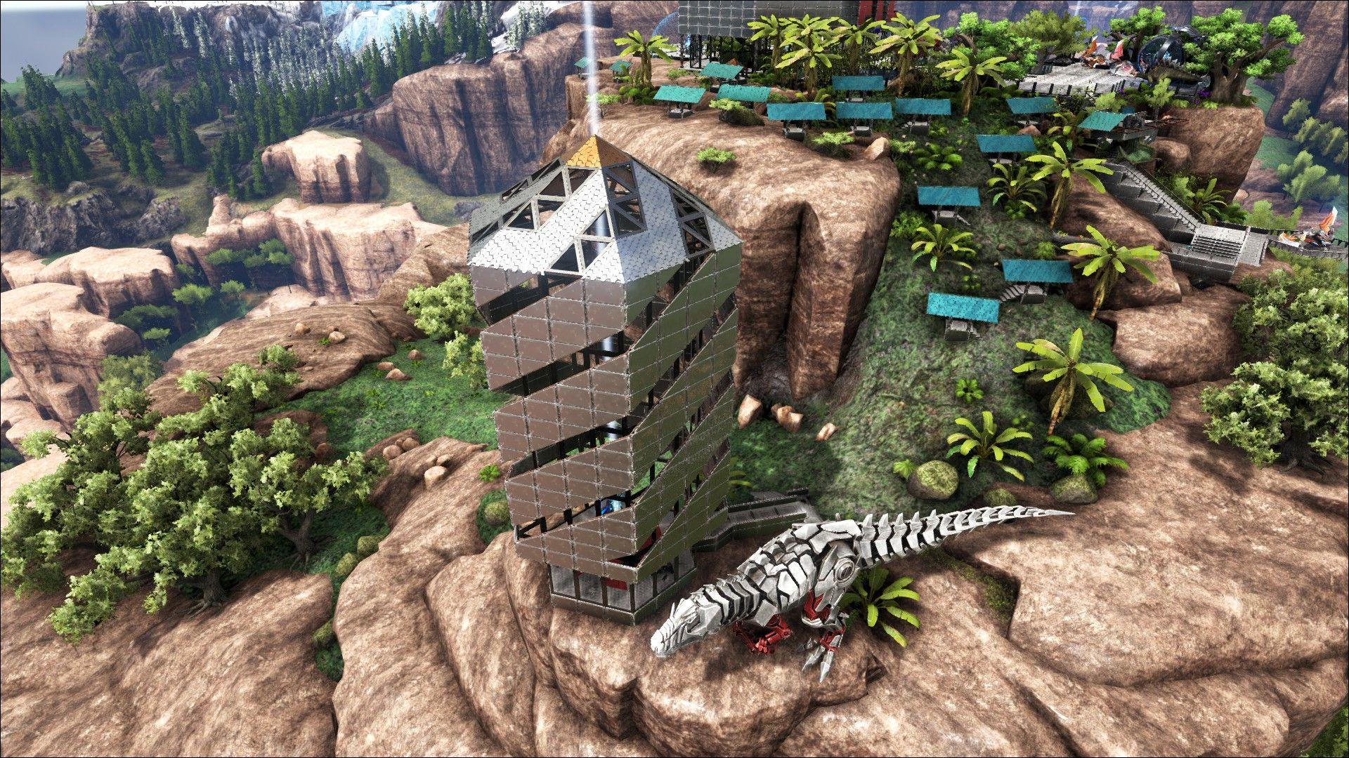 Ark Survival Evolved, Tek Base Design, Tek Skyscraper
