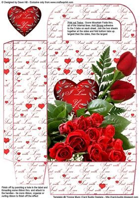 Make Valentine's Day gift extra special by making a Valentine's Gift bag to place it in...... this co-ordinates with my Pop Out Oval mini kit cup386909_351 but can be used completely on its own. Could be used for Anniversary, Birthday and ocassion when Romance is Key. Show someone you love them