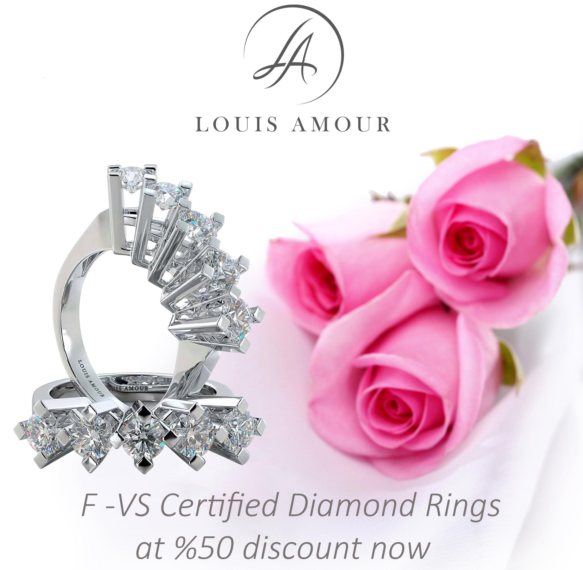 Stunning Certificated Five Stone Diamond Anniversary and Engagement ...